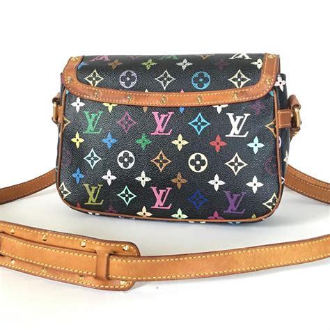 louis vuitton sologne monogram multicolor shoulder black canvas cross body bag tradesy