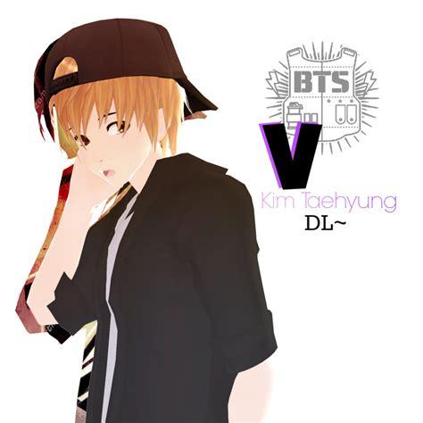 Anime Wallpaper Bts V by Mmd Bts V Dl By Junmaeda On Deviantart