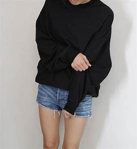 Tumblr outfit black sweater sweatshirt tumblr - Wheretoget
