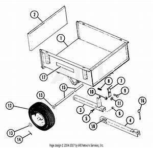 Ariens 831007  000101 -   Two Wheel Dump Trailer Parts Diagram For Dump Trailer