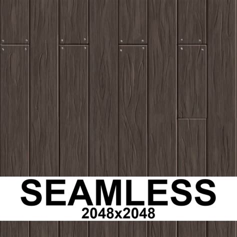 3D model Hand Painted Seamless Wooden Planks Texture VR