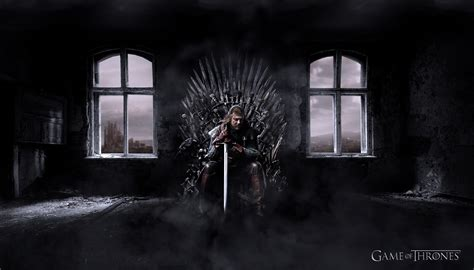 game  thrones ned stark iron throne wallpapers hd