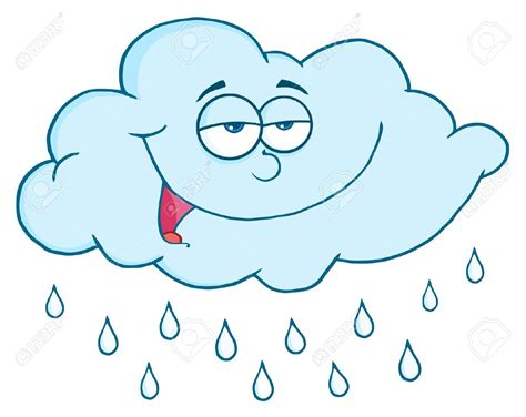 Rain Clipart Sad Rain Cloud