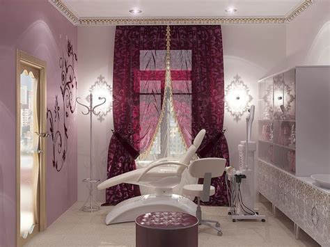 interior design beauty salon burgundy ideas salon