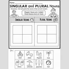 Summer Review Free  First Grade Literacy Nouns