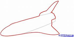 How to Draw a Space Shuttle, Draw a Shuttle, Step by Step ...