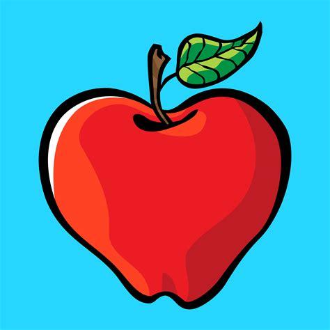 Apple cartoon vector icon - Download Free Vectors, Clipart ...