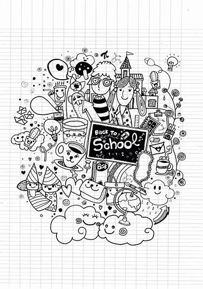 Doodle Cahier Coloriage Doodles Doodling Rentree Classes