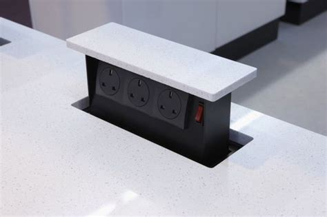 pop up electrical outlet for kitchen island pop up electrical outlets for kitchen islands akomunn 9736