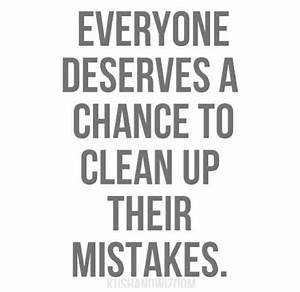 Everyone does deserve a second chance, but when those ...