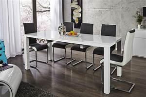 Tisch Weiß Hochglanz Ausziehbar : design esstisch lucente weiss hochglanz 120 200cm ausziehbar tisch riess ambiente onlineshop ~ Buech-reservation.com Haus und Dekorationen