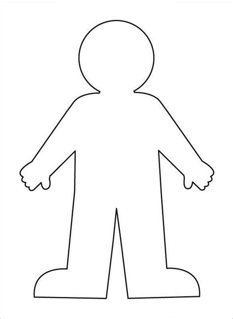 human body outline templates