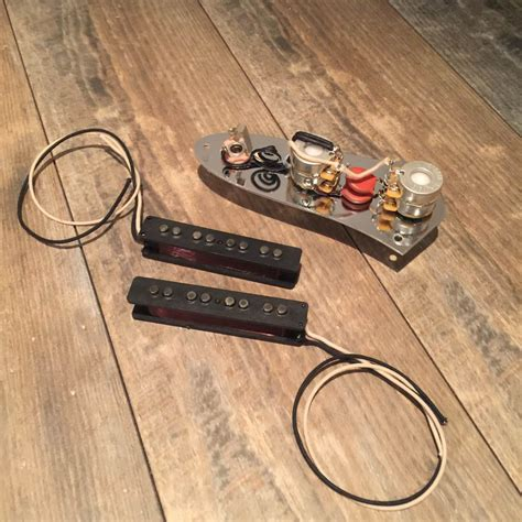 fender jazz bass stack knob  wiring harness pickups