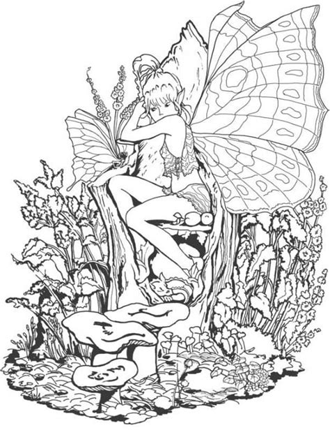 forbidden fantasy fairy world coloring page coloring sky