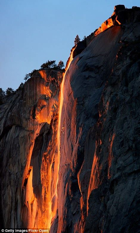 Tail Falls Yosemite National Park Firefall