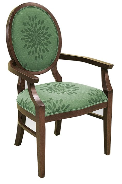 dining series classic wood arm chair w upholstered