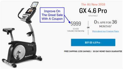 NordicTrack GX 4.6 Pro Stationary Bike Coupon And Promo Code