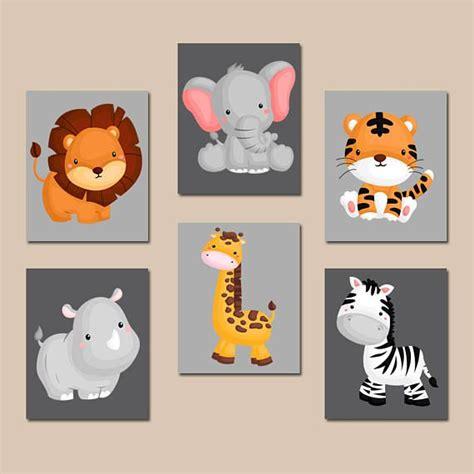Wandbilder Kinderzimmer Junge by Jungle Animal Wall Baby Boy Animal Nursery Artwork