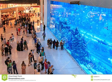 le plus grand aquarium de aquarium dans le mail de duba 239 le plus grand centre commercial du monde image stock 233 ditorial