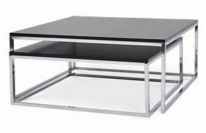 Table Bois Et Noir : table basse gigogne m tal et bois noir pi ce vivre ~ Dailycaller-alerts.com Idées de Décoration