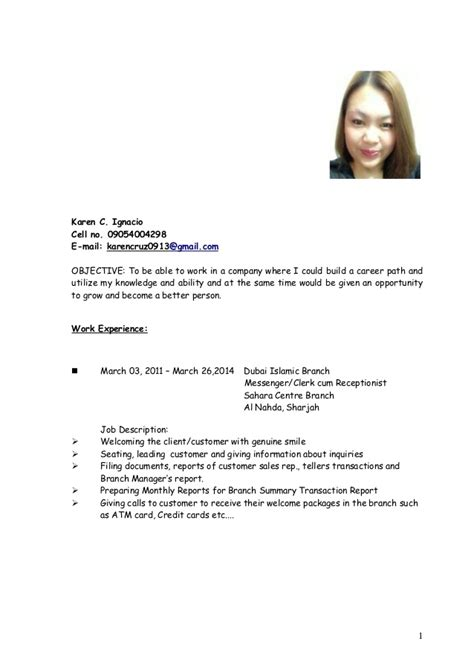 Sle Of Updated Resume Format by Khaye Cv 2014 Updated