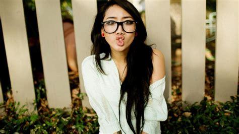 Women Glasses Long Hair Asian Wallpaper Girls