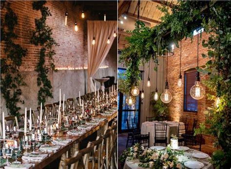 industrial wedding reception decor ideas