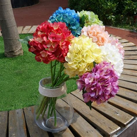16cm large hydrangeas wedding decoration table