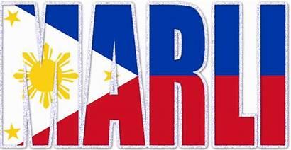 Glitter Philippine Flag Marli Graphics Names Copy