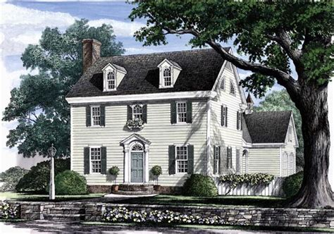 colonial style house plan    bed  bath
