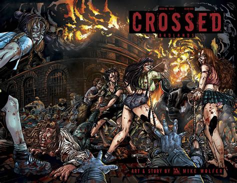 crossed badlands  variant cover wraparound westfield comics comic book mail order