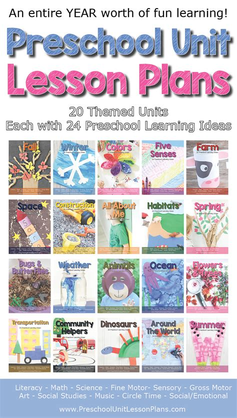 a year of preschool lesson plans 20 preschool theme units 905 | preschool lesson plans theme units