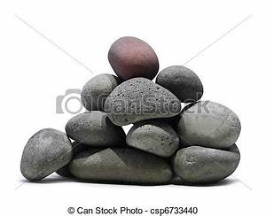 Rock clipart smooth stone - Pencil and in color rock ...