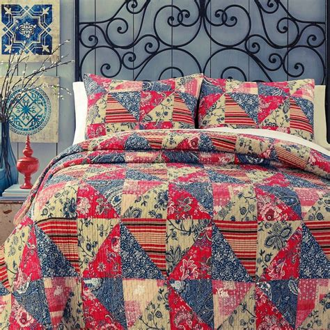 Coverlets Quilts by Garden 100 Cotton Quilt Set Bedspread Coverlet