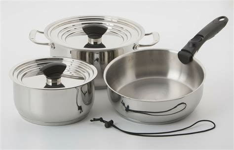nesting cookware stainless steel galleyware induction pc