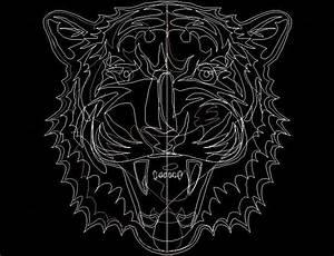 Tiger Face Autocad Block Plan n Design