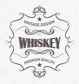 Whiskey Label Vector Drawing Illustration Getdrawings sketch template
