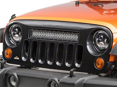 jeep light bar grill cliffride wrangler holcomb grille w 22 in led light bar