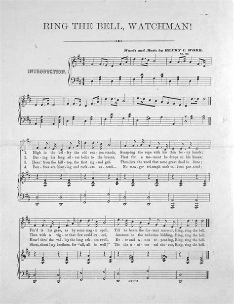 ring  bell watchman song  chorus levy