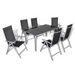 Table De Jardin Noir Et Gris by La Boutique En Ligne Ensemble De Jardin Noir Et Gris 1