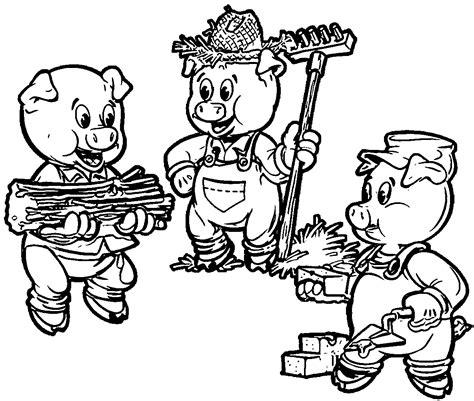 3 Little Pigs Farmers Coloring Page Little pigs Color