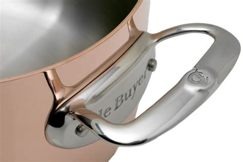 de buyer prima matera copper roasting pan  cm stainless lid  advantageously shopping