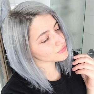 Coloration Cheveux Gris Perle : la tendance mode d 39 avoir les cheveux gris pour les filles ~ Nature-et-papiers.com Idées de Décoration