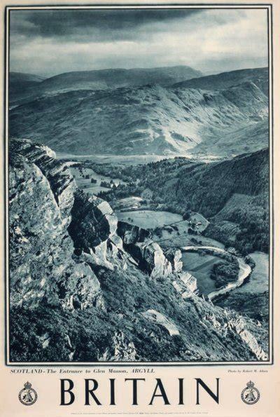 original vintage poster britain scotland glen masson