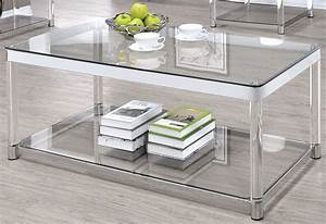 chrome and clear acrylic rectangular coffee table from With clear lucite acrylic coffee table