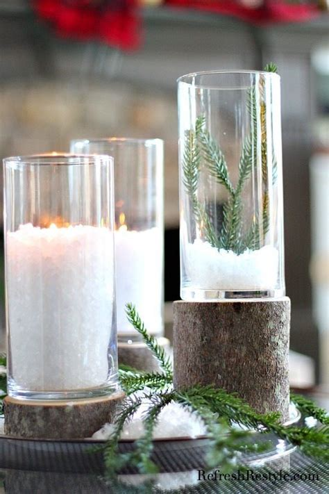 diy glass  wood candleholders