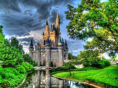 Castle Disney Cinderella Wallpapers Painting Diamond Background