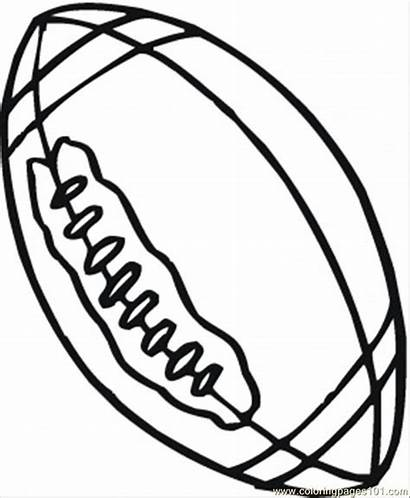 Ball Coloring Rugby Pages Drawing Balls Sports