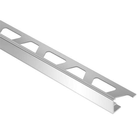 Schluter Tile Trim Home Depot by Schluter Schiene Aluminum 7 16 In X 8 Ft 2 1 2 In Metal