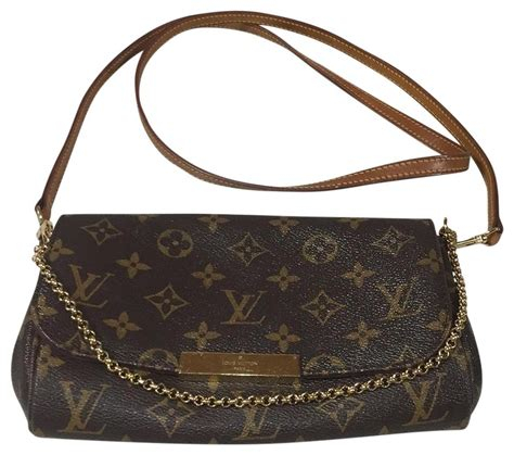 louis vuitton favorite canvas bodyclutch brown monogram